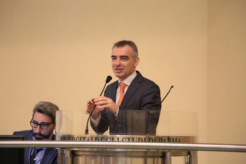 Andrea Giuliacci illustra i cambiamenti climatici al convegno organizzato dal Consorzio della Bonifica Parmense