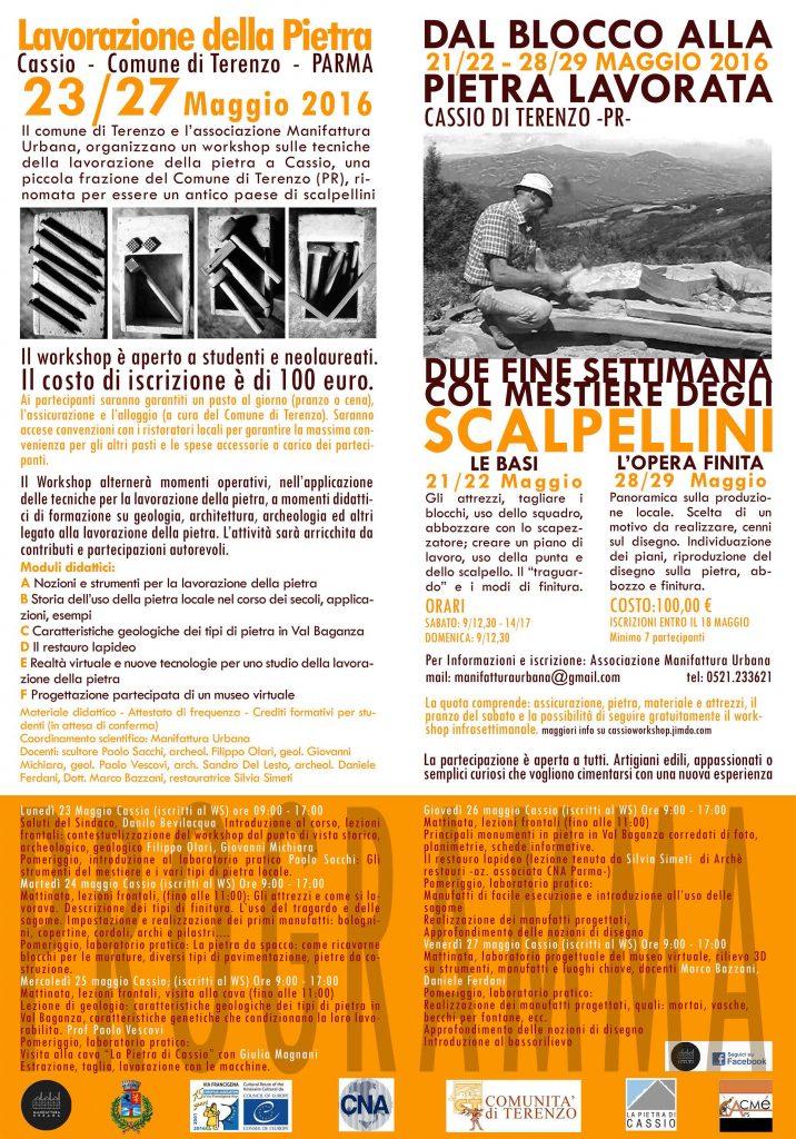 Pieghevole WS Lavorazione Pietra + Corso Weekend