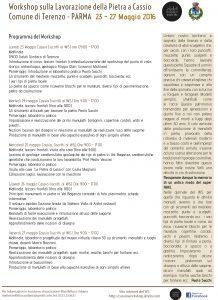 Programma WS Lavorazione Pietra Cassio 23-27 Maggio