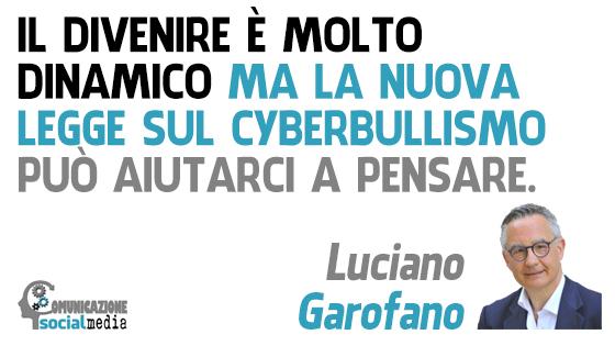 legge sul cyberbullismo social media web