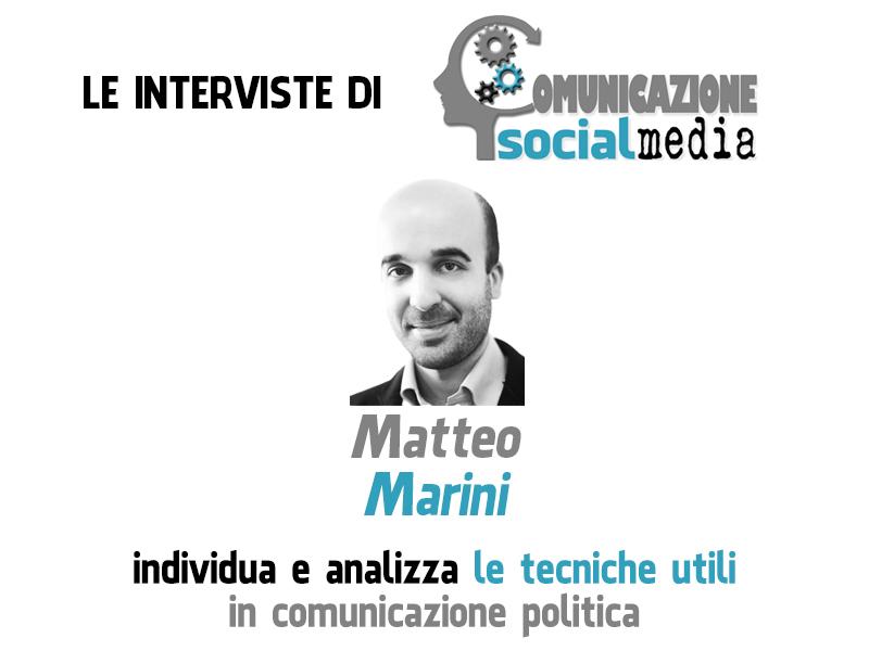 Matteo Marini, romano de Roma, giornalista e esperto di tecniche di comunicazione politica