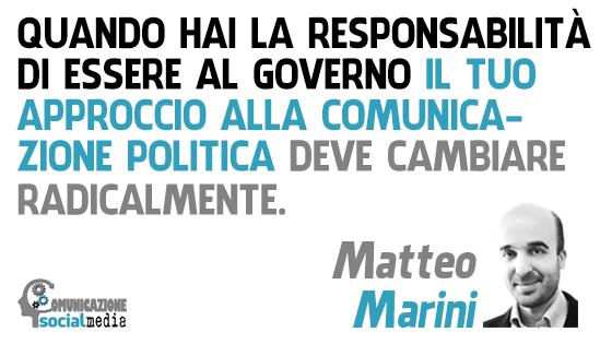 matteo marini tecniche di comunicazione politica